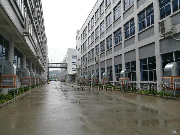 润东方环保空调厂房降温工程安装完成